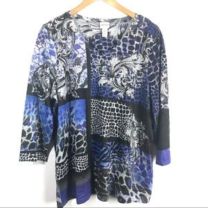 3/$25 Chico's Zenergy Pullover Sweater Size 3 XL